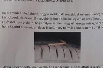 Aljas jancsiszegdobáló söpredéket keres egy magyar társasház