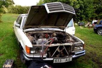 Így kel életre egy öreg dízel Mercedes