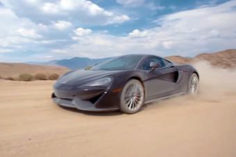 Te csapatnál a porban egy McLaren 570GT-vel?
