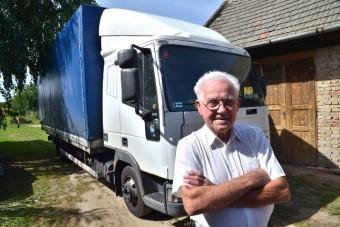 Imre bácsi 80 évesen hagyta abba a kamionozást