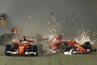 F1: Hamilton csúnyán beleszállt Vettelbe