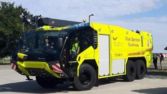 Csúcstechnikát képviselő tűzoltóautók állnak szolgálatba a ferihegyi reptéren