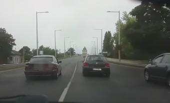 Életveszélyes száguldozást videóztak Budapesten