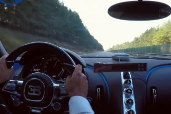 Így gyorsul a Bugatti Chiron 300-ra, nem tart sokáig!