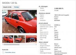 Megsimogatja a lelked ez az eladó Škoda 120