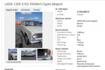 Közel 5 millióért eladó ez a használt Lada 1200 - megéri?