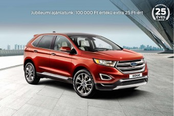Ünnepeljen a 25 éves Ford Petrányival: most új személyautóhoz 100.000 forint értékű extra jár 25 Ft-ért! (X)