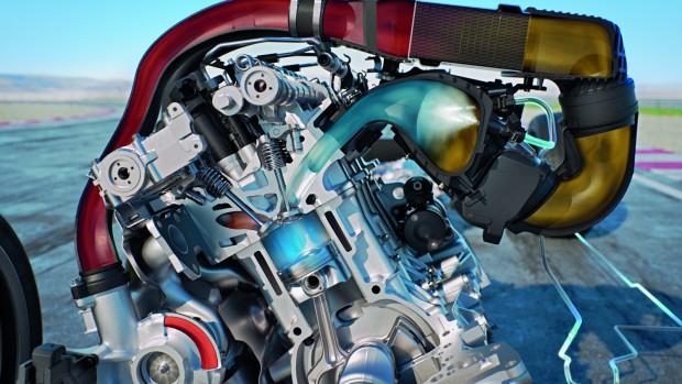 """A tavasszal érkező M4 GTS csúcsmodellben vezeti be a piacra a BMW a vízbefecskendezést. A kupé szívórendszerébe fecskendezett finom vízpermet radikálisan lehűti a turbó felől érkező töltőlevegőt, és csökkenti az égéstérben az égési folyamat hőjét. Ezzel csökken a kopogási hajlam, ami lehetővé teszi a turbónyomás megnövelését, illetve a gyújtás még korábbi időzítését. """"A motor ezzel a technikával 1200 fokos hatásfoknak megfelelően működik csupán 1050 fokon"""" - emeli ki a pozitívumokat Koch professzor. Egy bökkenő azonban itt is van: a vizet nem lehet korlátlan mennyiségben használni"""