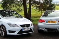 SEAT Leon Cupra a BMW M3 ellen