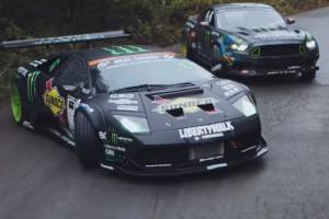 Őrületes driftcsata, Lamborghinivel és Mustanggal a főszerepben