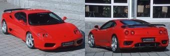 Ferrari 360 Modena a Hamann használtautó-parkjában