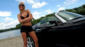 A címlaplány és az Opel GT