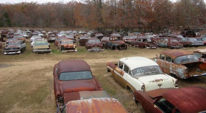 Szárazzá tett autók?