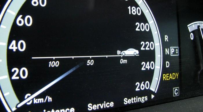 Követési távolság, méterben