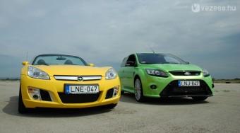 Teszt: Ford Focus RS vs. Opel GT