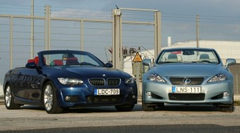 Teszt: BMW 330d vs. Lexus IS 250C