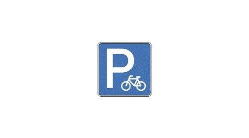 Szép új bicikliparkoló-tábla