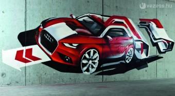 Falfirka lett az Audi A1-ből - videó
