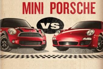 Sokkoló! A Porsche lealázta a MINI-t!