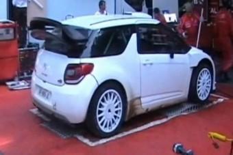 Pályaautós teszteli a Citroën raliautóját