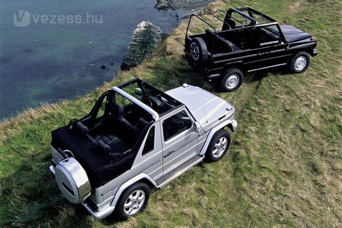 Mercedes G-osztály kabrió régen és ma