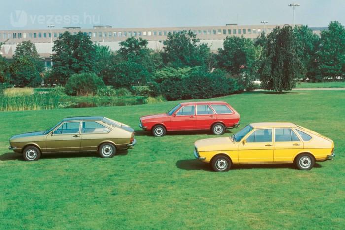 1973 óta 15 millió Passat kelt el, egy jó évben félmillió is gazdára talál. Az első gyakorlatilag az Audi 80 ferdehátú változata volt, az épkézláb, modern és sikeres autókat akkor az Audi tervezte a Volkswagennek. Az első Polót Audi 50-ként anyakönyvezték
