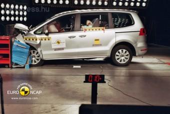 Parádézott a törésteszten VW-egyterű