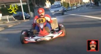 Super Mario él, és gokarton randalírozik