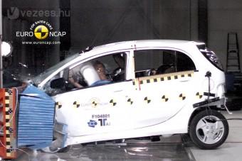 Majdnem összeroppant a törésteszten az elektromos Mitsubishi