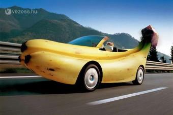 Banánból, ananászból a jövő autója