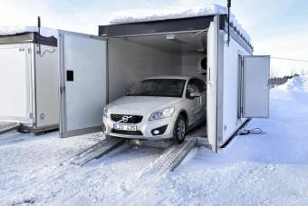 Elektromos Volvo: hidegre tették