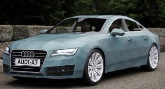 Papírból készült Audi A7