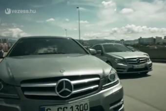 Bankrablással reklámoz a Mercedes
