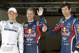 F1: Vettelék alázták a mezőnyt az időmérőn