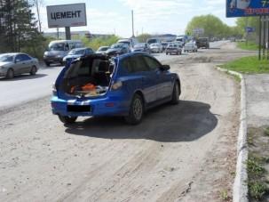 Elképesztő baleset, Mazda megskalpolva