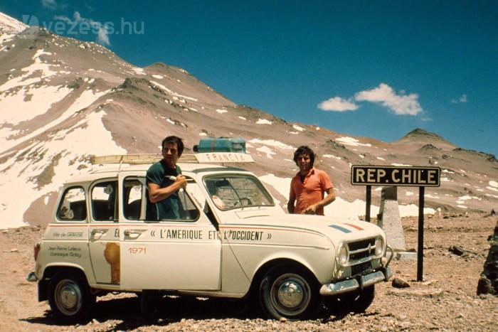 A Renault minden évben ifjú kutatók expedícióit támogatta R4-esekkel