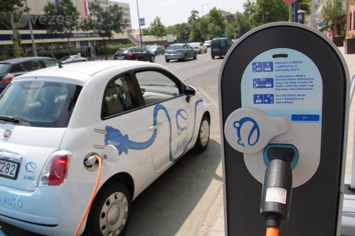 Az ELMÜ-ÉMÁSZ elektromos autóparkja jelenleg az átalakított 500-ból és egy FIAT Fiorinóból áll