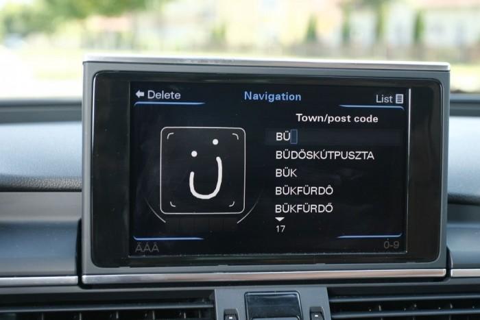 Kézírás-felismerő navigáció