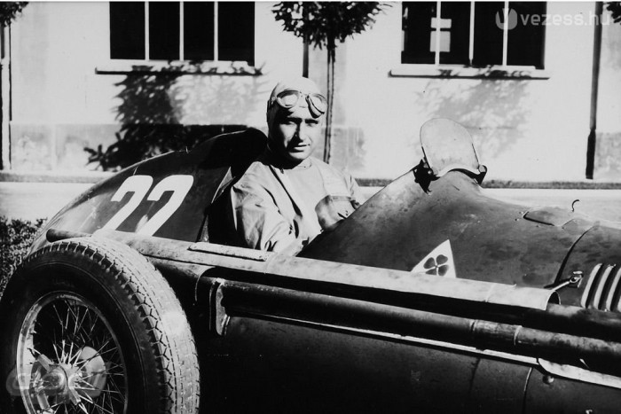 Fangio az Alfa Romeo 158 'Alfetta' volánjánál (1951)