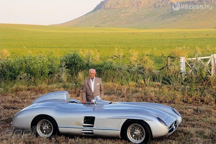 Az 1957-es Mercedes 300 SLR, amellyel a Mille Miglián indult