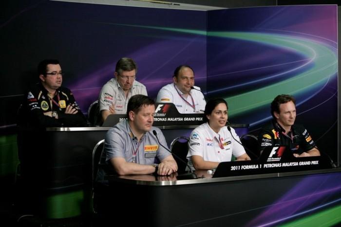 Ross Brawn, Christian Horner és a többi csapatfőnök partnerként kezeli Monishát
