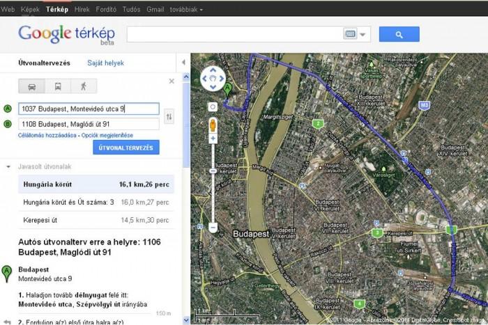 Google Terkepen A Bkv Menetrend Vezess