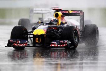 F1: Vettel megijedt az esőben