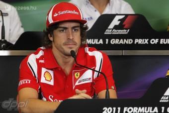 F1: Alonso tízből 7-et adott a Ferrarinak