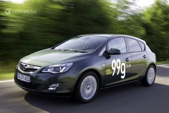 Új Opel Astra 3,7 literes fogyasztással