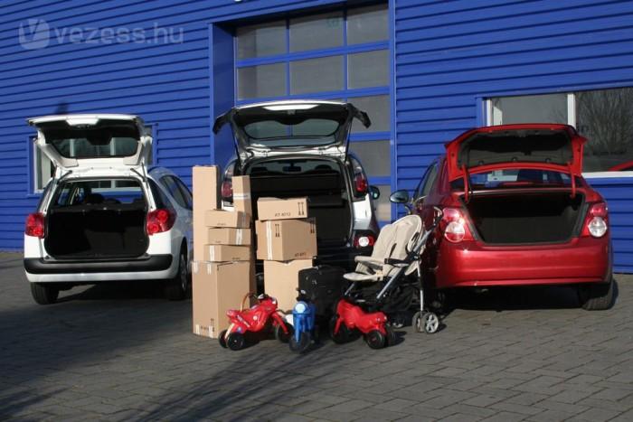 Sok doboz, három kismotor, egy babakocsi és egy kabinbőrönd elnyelése volt a feladat