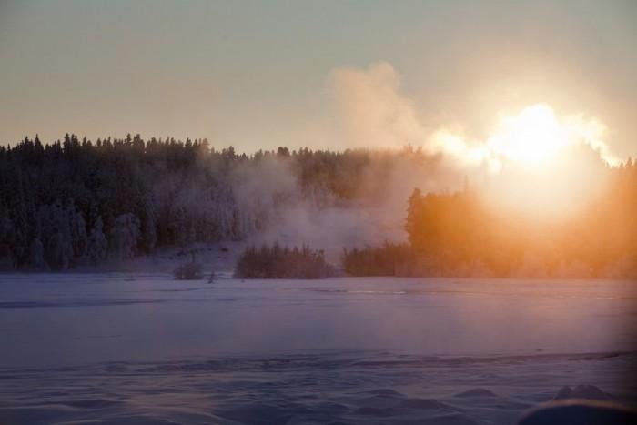 Éjszaka mínusz 42, nappal mínusz 35. A svéd Lappföldön aztán lehet téli gumit tesztelni!
