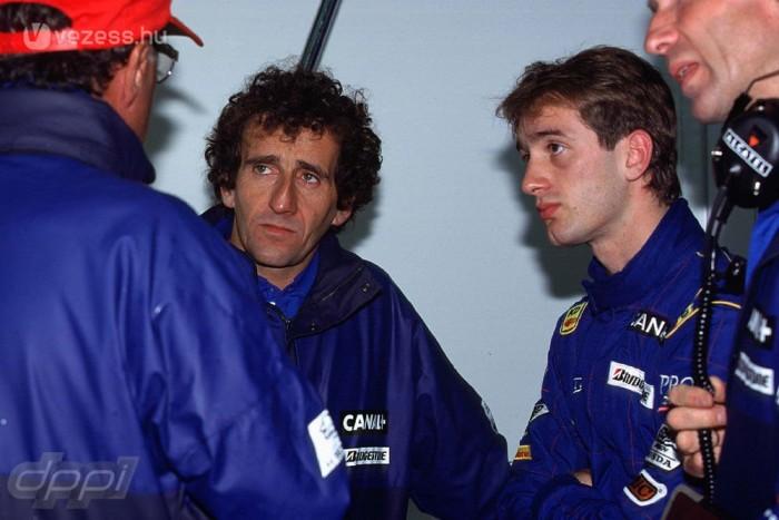 Trulli 1997-ben Prosttal a Prostnál