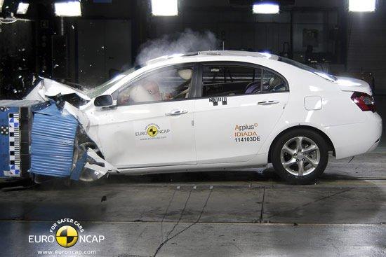 Pár hónapja négy csillagot kapott az NCAP-től a Geely Emgrand EC7