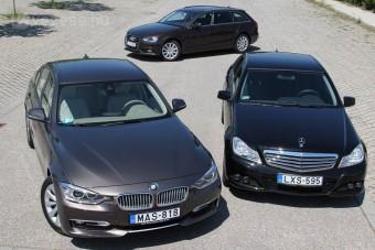 Összehasonlító teszt: Audi A4 - BMW 3-as - Mercedes C-osztály
